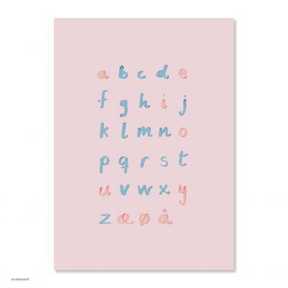 Image of ABC plakat – rosa