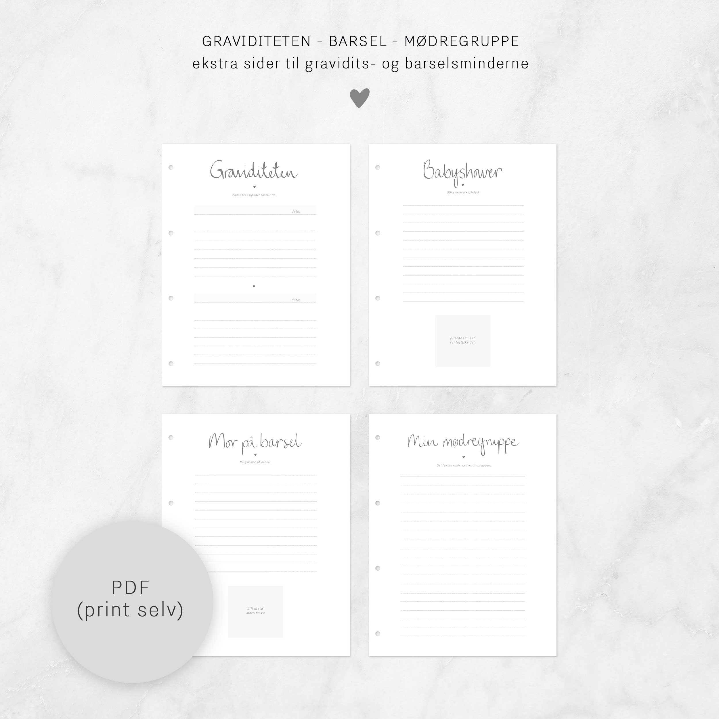 Image of   Graviditeten, ekstra-sider (print-selv)