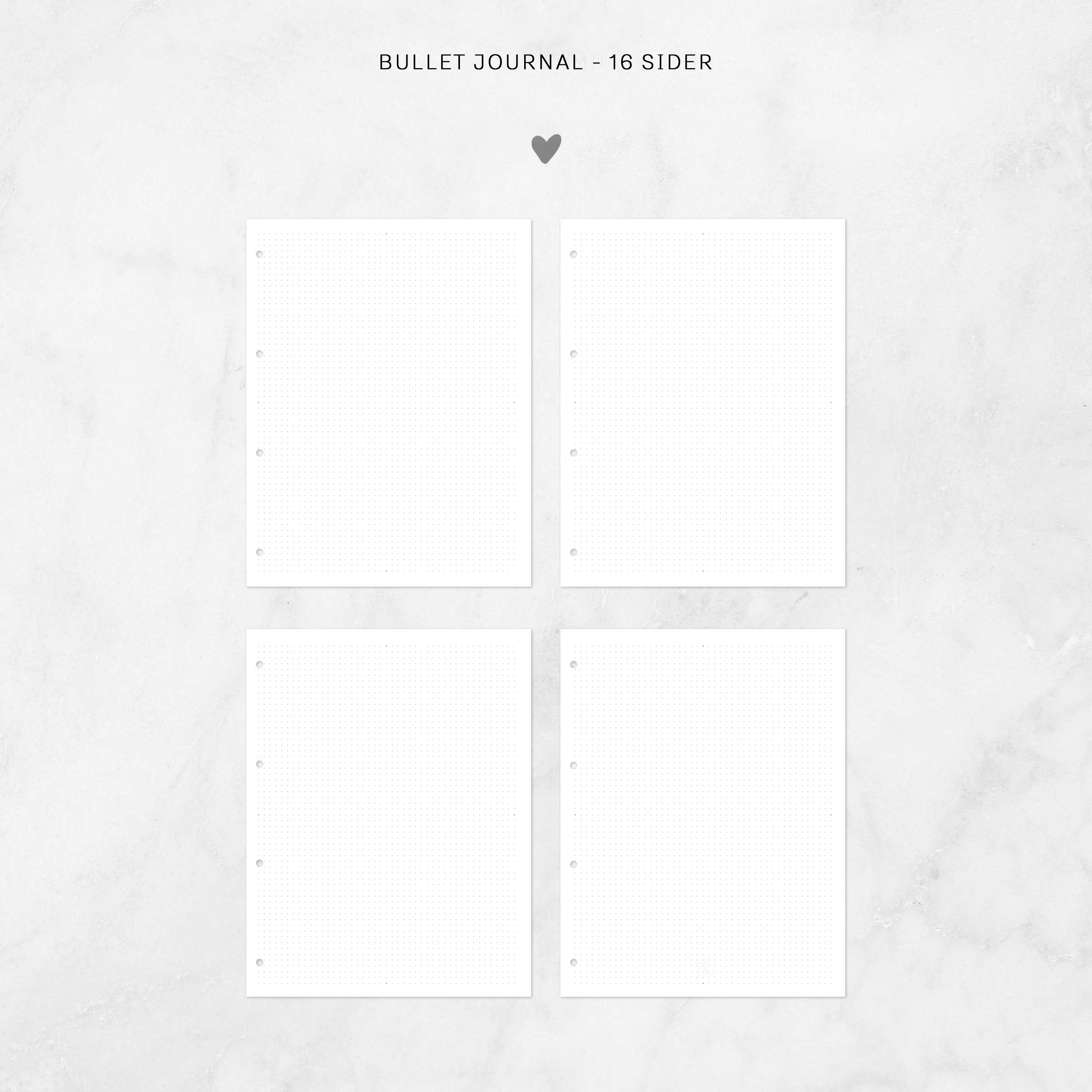 Image of   Bullet journal ekstra-sider