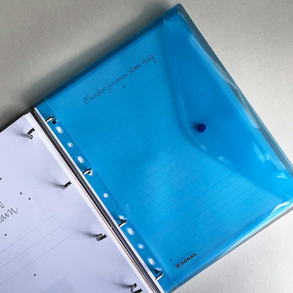 Image of   Plastlomme med knap - blå