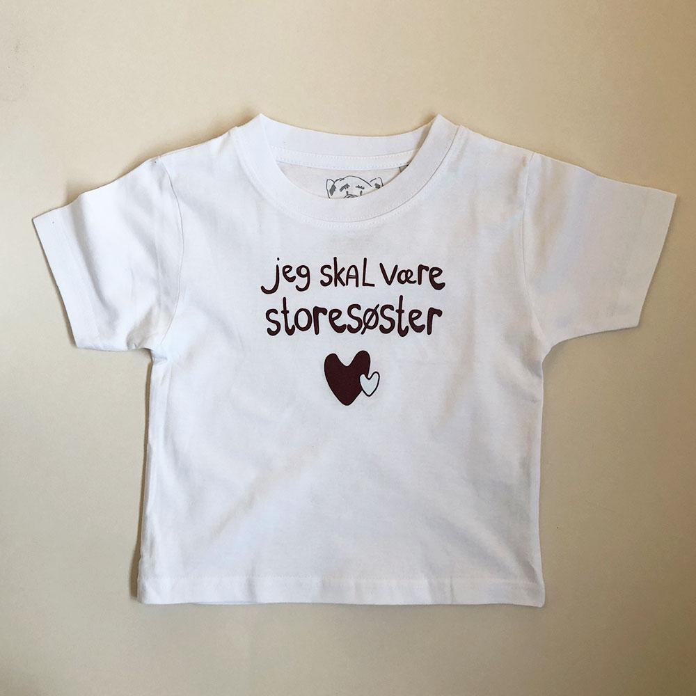 Jeg skal være storesøster - hvid t-shirt