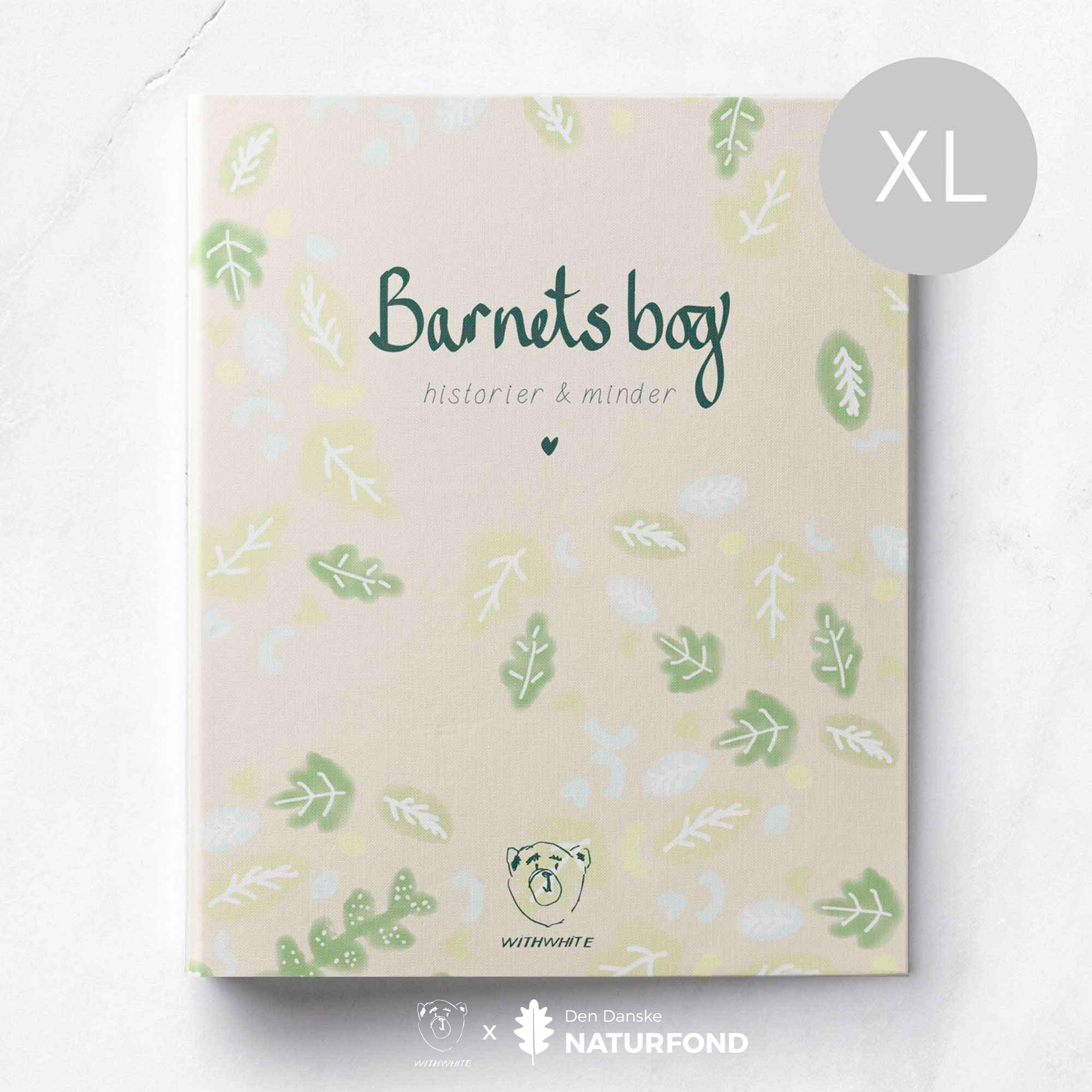 Barnets bog - XL - grønne blade