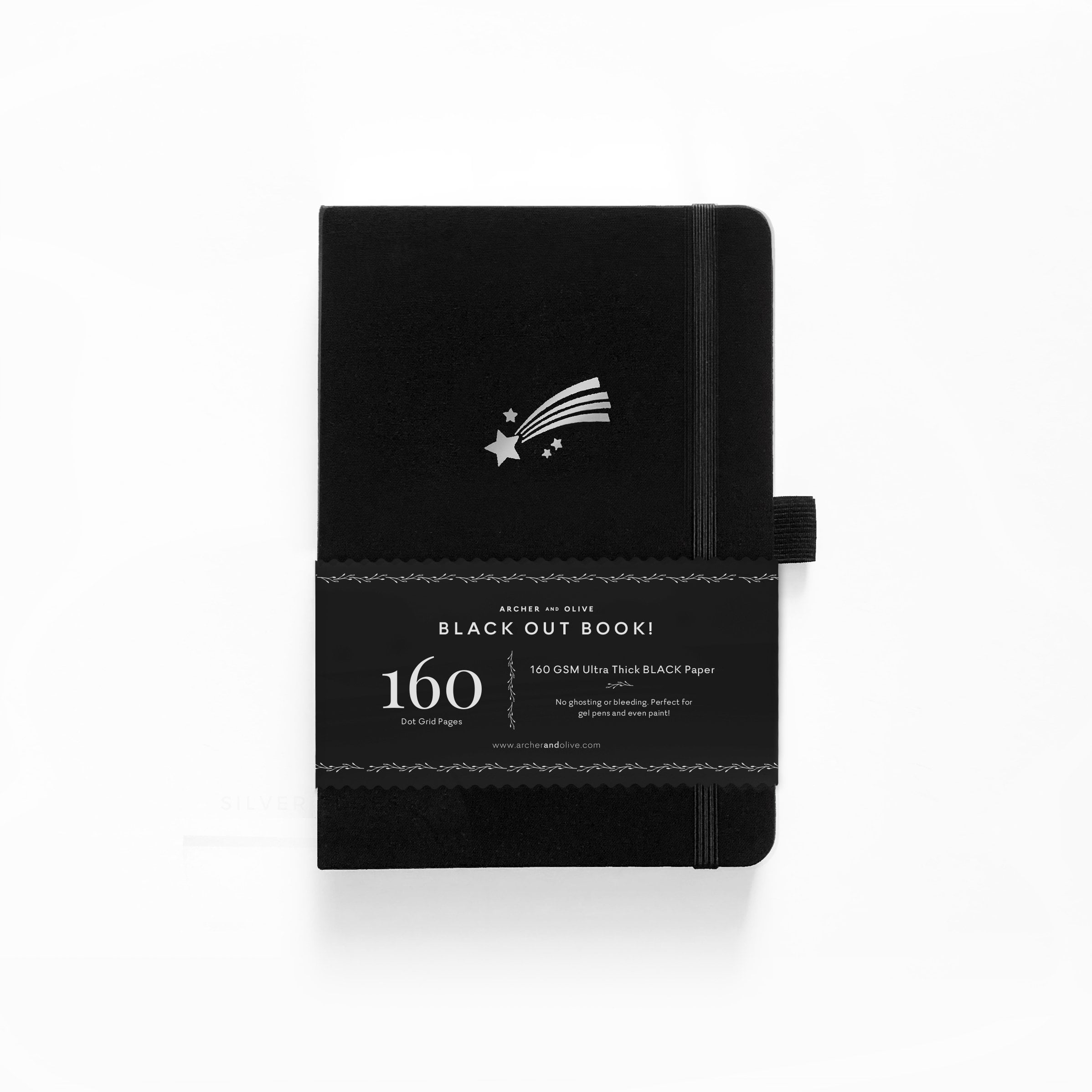Archer & Olive - A5 Notebook - Blackout Shooting Star