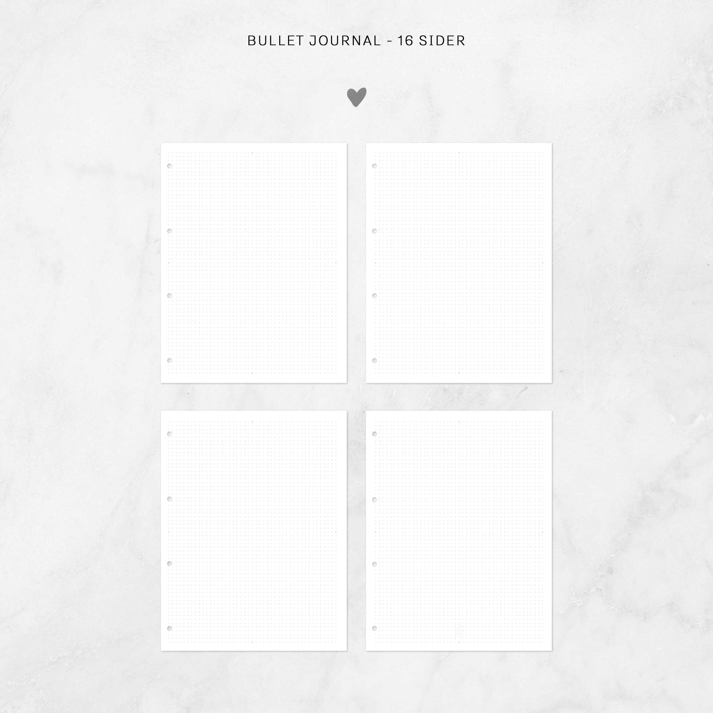 Bullet journal ekstra-sider